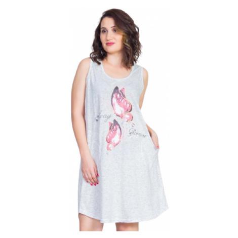 Dámské domácí šaty na ramínka Vienetta Secret Forever   smetanová