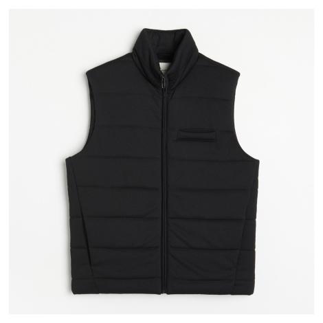 Reserved - Prošívaná vesta se stojáčkem - Černý