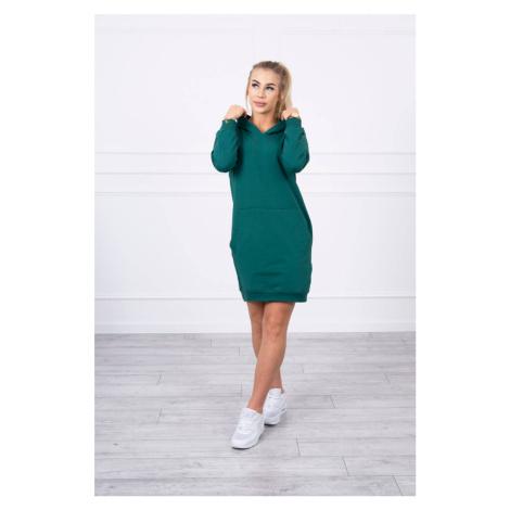 Mikinové šaty zelené Kesi