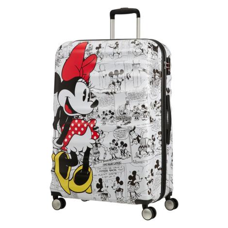 American Tourister Cestovní kufr Wavebreaker Disney Spinner 96 l - Minnie Comics White