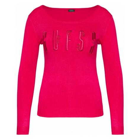 Guess GUESS dámský růžový svetr ECO
