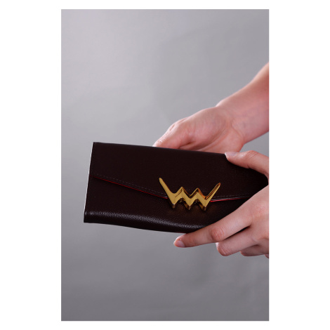 Tmavě hnědá kožená peněženka Ronnie VUCH
