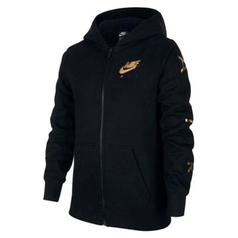 Nike NSW NIKE AIR FLC FZ černá - Dívčí mikina