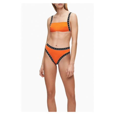 Calvin Klein Calvin Klein dámský oranžový bikiny top SQUARE BANDEAU