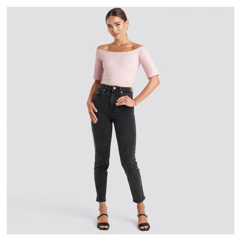 Černé skinny džíny s vysokým pasem NA-KD