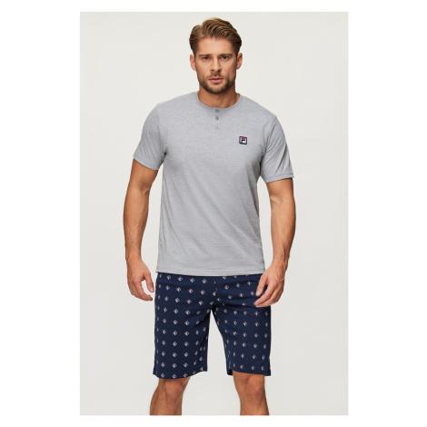 Šedé pyžamo FILA Short Jersey šedá