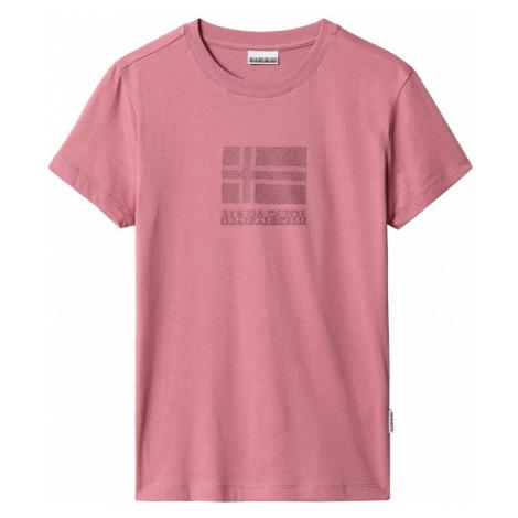 Napapijri NAPAPIJRI dámské růžové tričko SEOLL