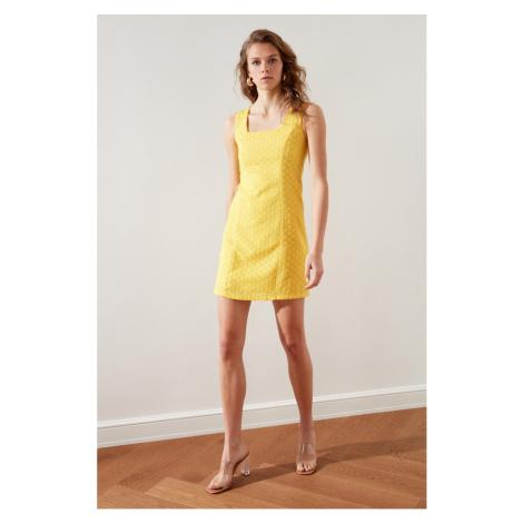 Trendyol Yellow Brode Dress