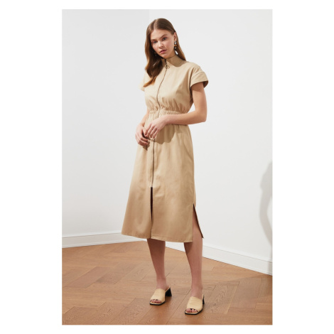 Trendyol Camel Zipper Dress