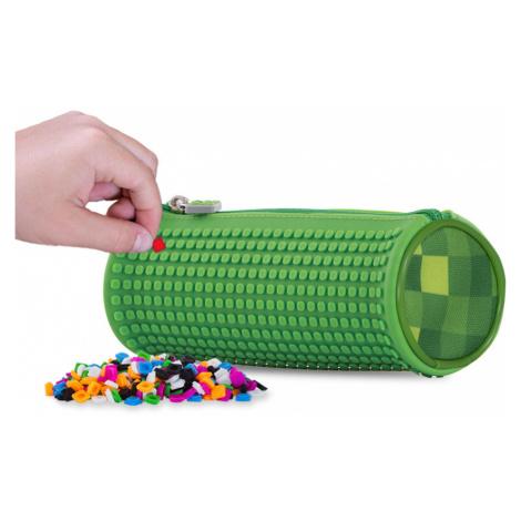 PIXIE CREW kulatý penál MINECRAFT zelená / zelená kostka