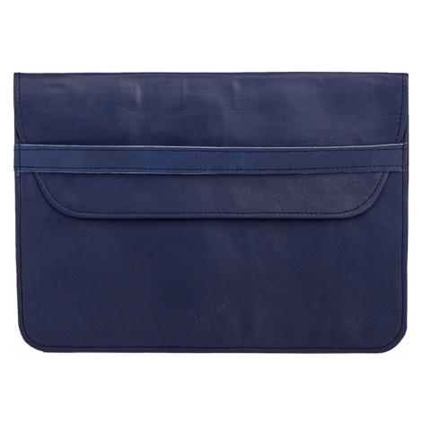 Bagind Namek Atmos - Dámský i pánský kožený obal na notebook modrý, ruční výroba, český design