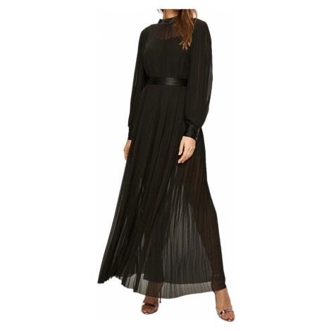 Černé hedvábné šaty - KARL LAGERFELD