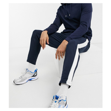 ASOS DESIGN Tall co-ord tapered joggers with fixed hem & side stripe detail-Blue