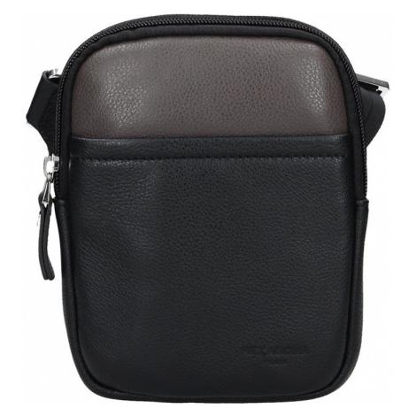 Pánská taška na doklady Hexagona Vilém - černo-hnědá