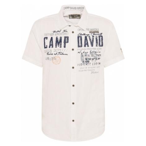 CAMP DAVID Košile bílá / šedá / námořnická modř / jasně oranžová