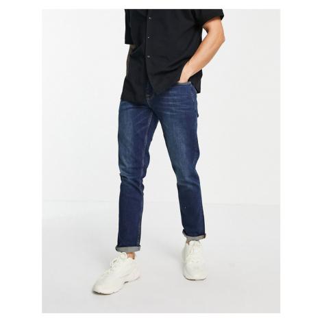 ASOS DESIGN stretch slim Jeans In Dark Wash-Blue