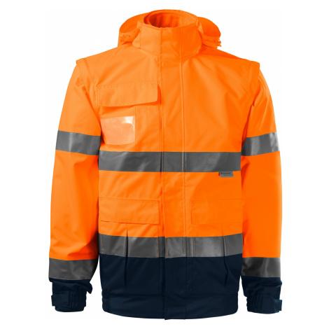 RIMECK HV GUARD 4 IN 1 Pracovní unisex bunda 5V298 reflexní oranžová