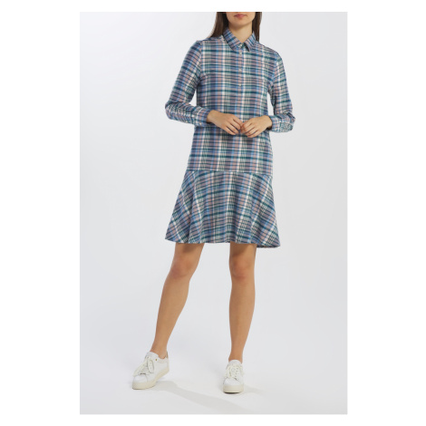 ŠATY GANT D2. FADED WINTER TWILL CHECK DRESS