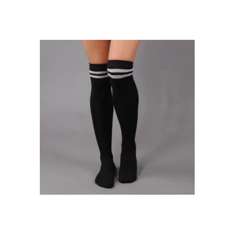 Urban Classics Ladies Overknee Socks 2-Pack černé / šedé