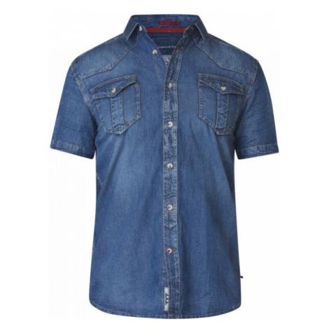 D555 košile pánská džínová MIKE nadměrná velikost