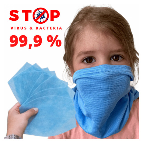 NANO šátek AG-TIVE 3F 99,9% - dětský Bílá Dětské