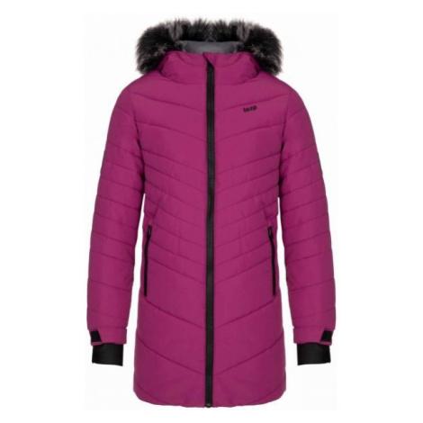 Loap OKTANA fialová - Dívčí zimní kabát