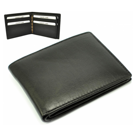 Černá kožená peněženka pánská Golunski
