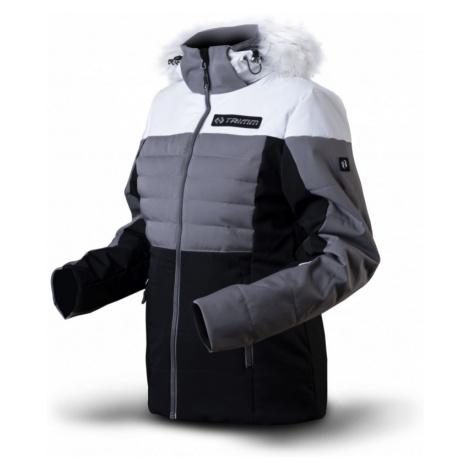 Dámská lyžařská bunda TRIMM Gira white/light grey/black