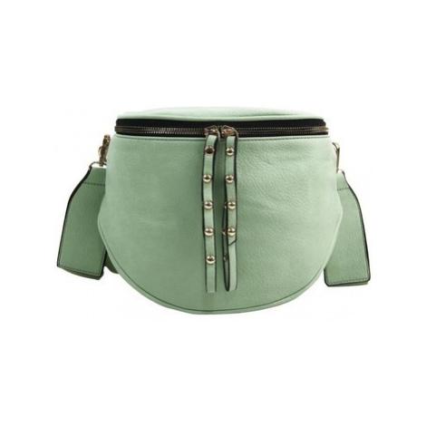 Rosy Bag Větší dámská ledvinka se zlatými doplňky pistáciová zelená Zelená