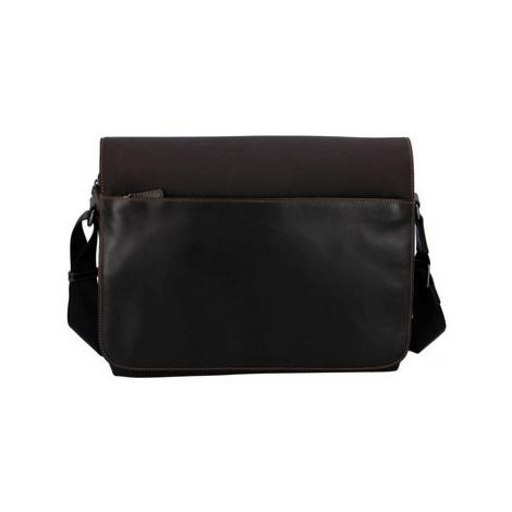 Hexagona Pánská kožená taška přes rameno hnědá - 296181 Hnědá