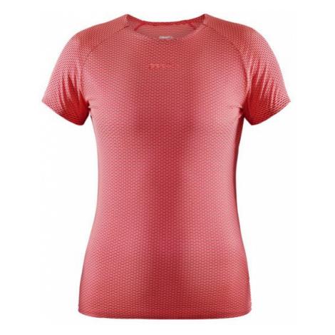 Dámské tričko CRAFT PRO Dry Nanoweight SS červená