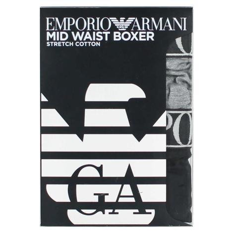 Boxerky 2pack 111912 0A720 08649 černo-šedá - Emporio Armani