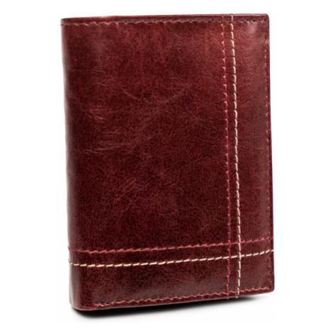 Kožená pánská peněženka prošívaná peněženka na karty Always Wild
