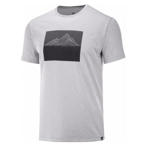 Tričko Salomon AGILE GRAPHIC TEE M - šedá/černá