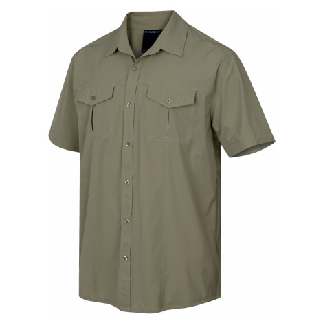Husky Gomy M, sv. olivová Pánská košile