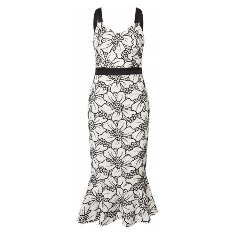 Chi Chi London Koktejlové šaty bílá / černá