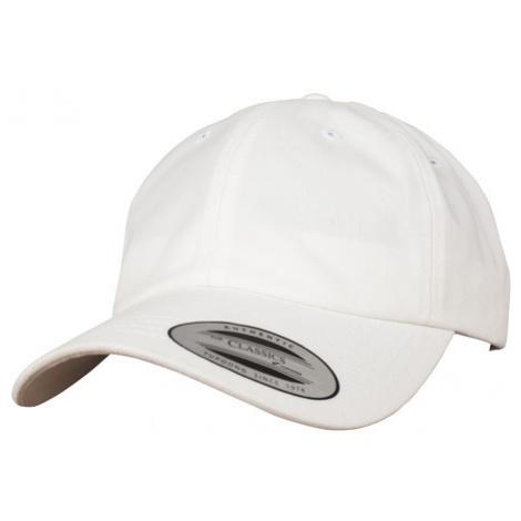 Urban Classics Peached Cotton Twill Dad Cap white