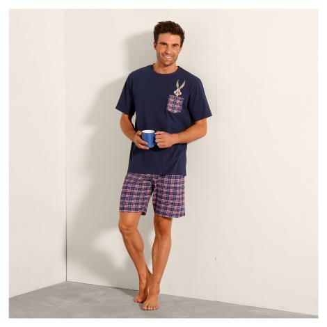 Blancheporte Pyžamo se šortkami Bugs Bunny nám.modrá