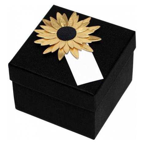 Giftisimo Luxusní dárková krabička se zlatou slunečnicí