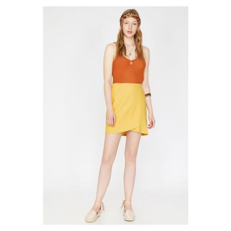 Koton Women Yellow Mini Normal Waist Skirt