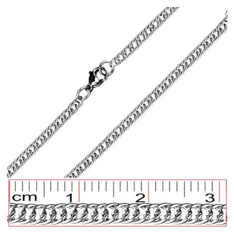 Oceľová retiazka - jednoduché, dvakrát tesne prepojené očká Šperky eshop