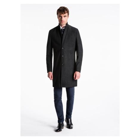 Pánský kabát Crable černý Ombre Clothing