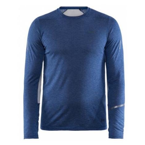 Pánské tričko CRAFT SubZ Wool LS tm. modrá