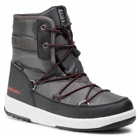 Sněhule MOON BOOT - Boot Jr Boy Mid Wp 2 34052500002 D Black/Castlerock