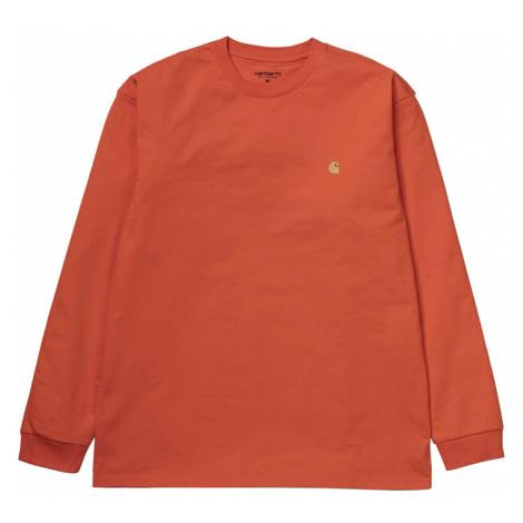 Carhartt WIP L/S Chase T-Shirt Pepper Gold oranžové 1026392_PE_90