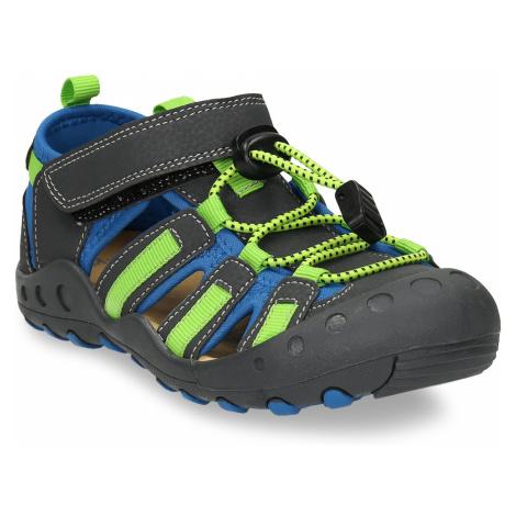 Dětské sandály s modrými a zelenými detaily Baťa