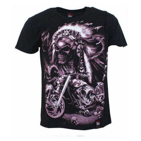 "BLACK HEAVEN tričko pánské pro motorkáře ""Indián chopper"" BLACK HAVEN"