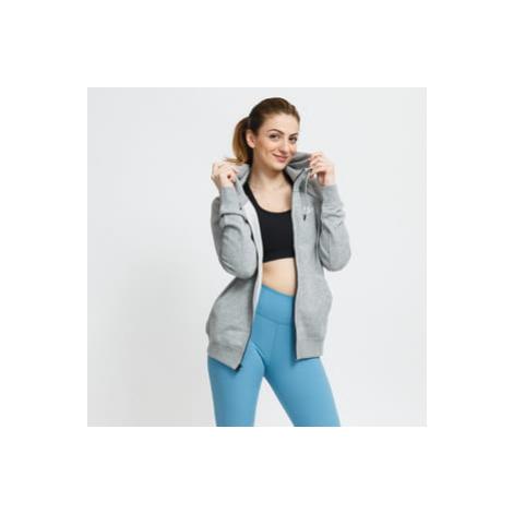 Nike W NSW Essential Fleece FZ Hoodie melange šedá
