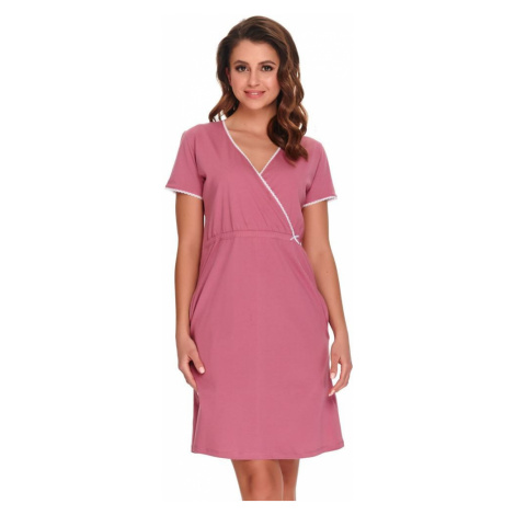 DN Nightwear Noční košile Heidi růžová bavlna organic