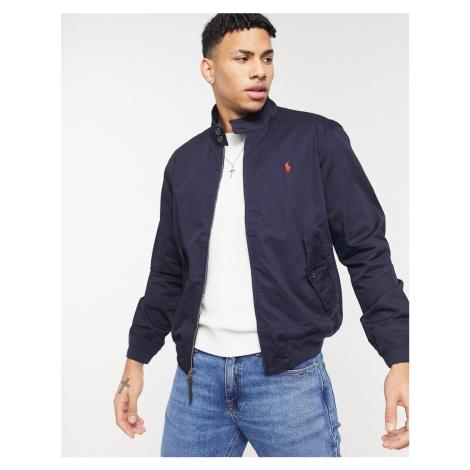 Polo Ralph Lauren twill Baracuda player logo harrington jacket in navy